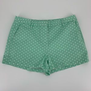 Elle Flat Front Chino Shorts Mint Green Size 12
